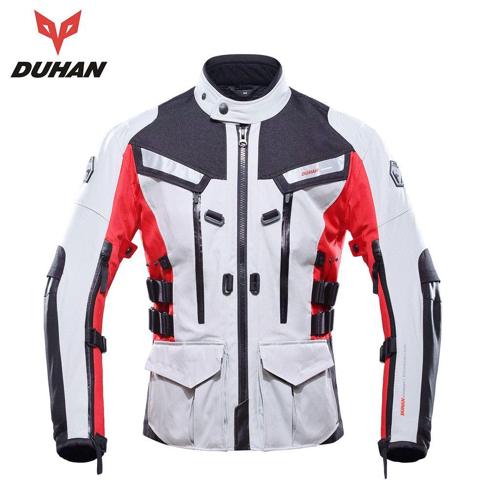 DUHAN Motorcycle Jacket Waterproof Men Motocross Riding Equipment Gear Cold-proof Moto Jacket Outdoor Waterproof Jacket