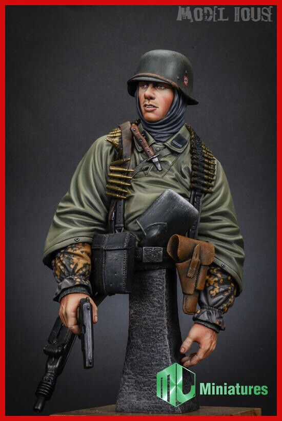 Char X-086 Marines allemands buste 1/35 soldats