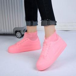Противоскользящие многоразовые латексные бахилы водонепроницаемые резиновые сапоги обувь унисекс аксессуары