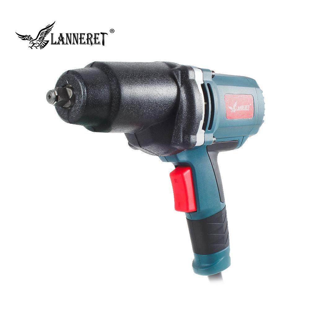 LANNERET 950 watt Elektrische Schlagschrauber 450-550Nm Max Drehmoment 1/2 zoll Auto Buchse Haushalt Professionelle Schlüssel Ändern Reifen Werkzeuge