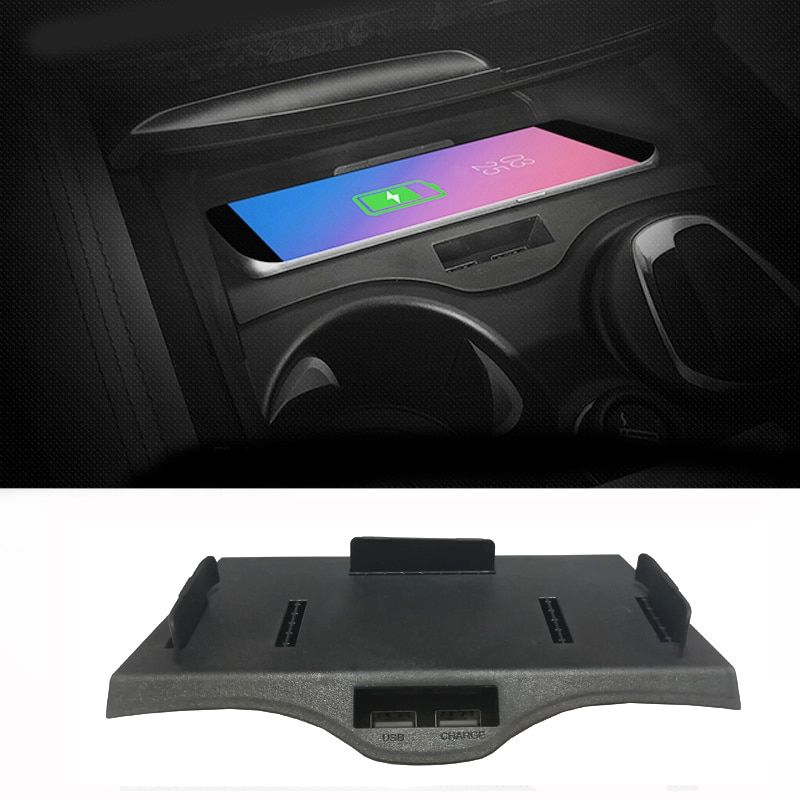 Car phone charger wireless phone adapter dual QI quick charging center console phone holder for BMW 5 6 Series G30 G38 GT 525