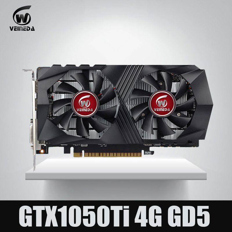 Veineda Video Card GTX1050Ti 4GB 128Bit 1290/7000MHz Graphics Card for nVIDIA Geforce Games