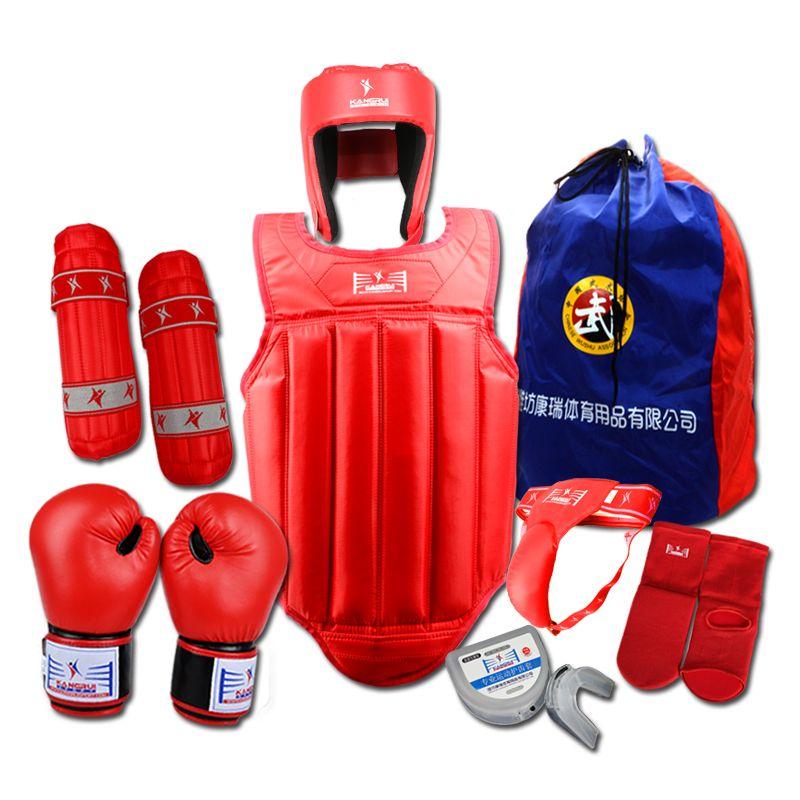Hot Martial Arts Sanda Protector Set 8 Pcs Sanda Competition Equipment for training