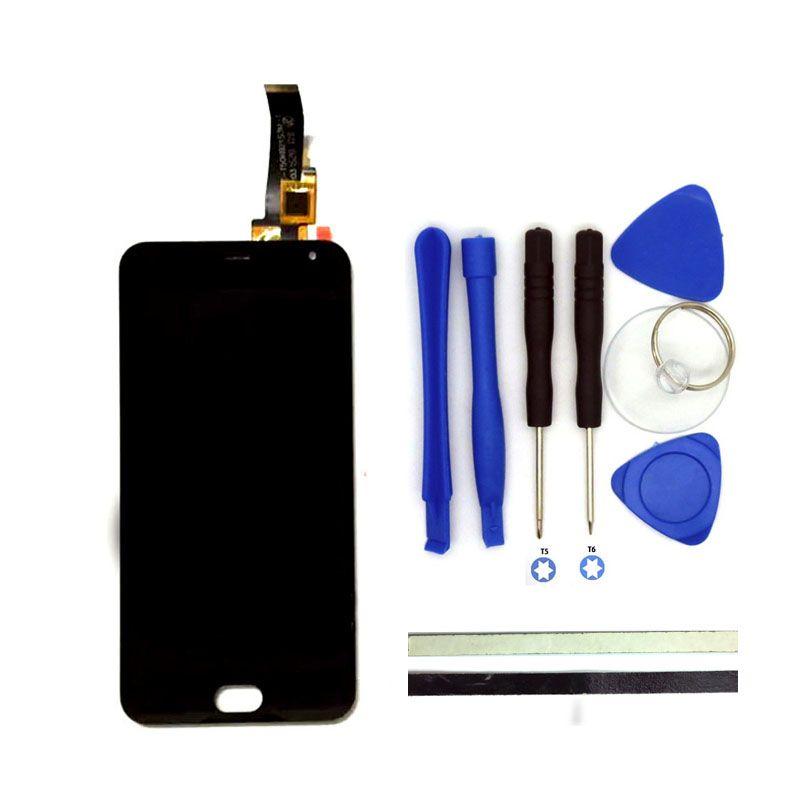 5 Inch LCD-ЖК-сенсорный дисплей-экран-стекло с тачскрином на телефон Meizu M2 mini черный