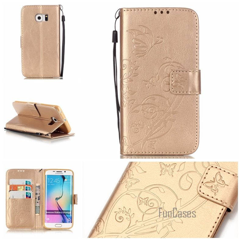 Case for coque Samsung S6 Edge Case for fundas Samsung Galaxy S6 Edge sansung samsun Cover Case 5.1 inch + Stand Card Holder