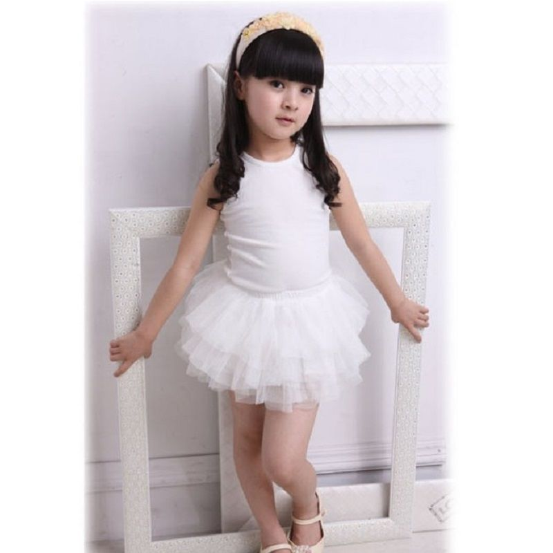 Summer Girls Skirts Ball Gown Mini Yarn Skirt Children's TUTU Underskirt Lace Girl Clothes Retail