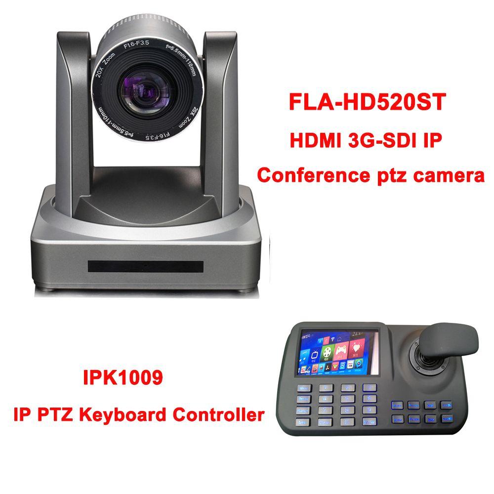 5 zoll 3D Joystick HD LCD Display IP PTZ Tastatur Controller für Onvif HDMI SDI Netzwerk Konferenz Kamera 20x Optische zoom