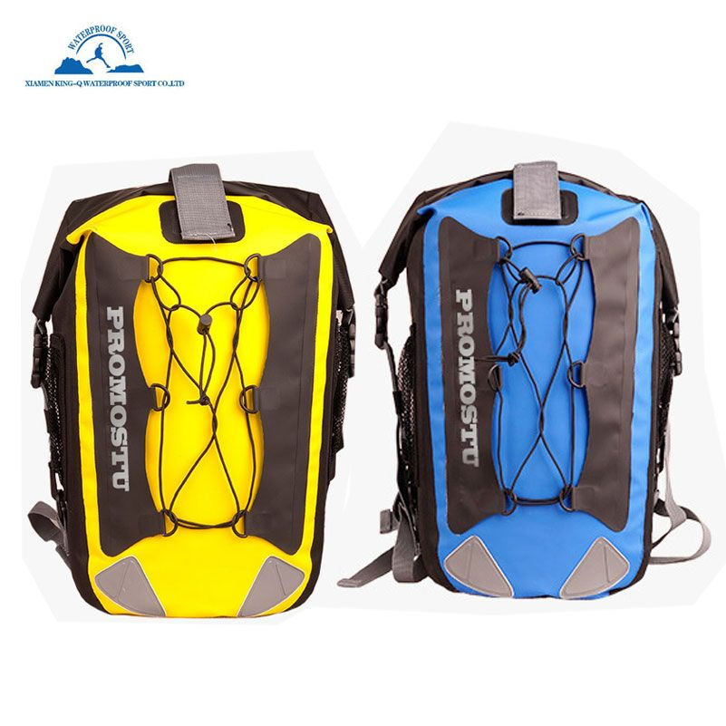 Waterproof Dry Bag Backpack 35L Padded Shoulder Straps Corded Exterior and Mesh Netting for Increased Carrying Capacity Outdoor