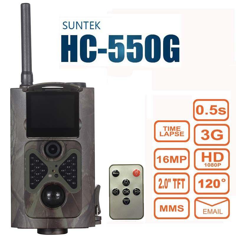 Suntek HC550G Jagd Trail Kamera 3G HD 16MP 1080 P Video Nachtsicht MMS GPRS Scouting Infrarot Spiel Hunter Cam