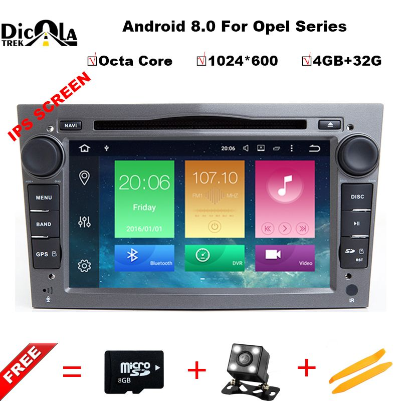 4G+32G Octa Core Android 8.0 7 Inch Car DVD Player For OPEL/ASTRA/Zafira/Combo With Canbus GPS Navigation Radio WIFI RDS BT Maps