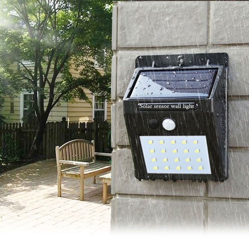 Lampe de poche LED capteur extérieur mur étanche solaire jardin réverbère capteur automatiquement lampe mouvement route publique nuit blubs