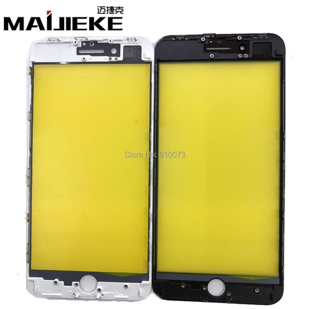 5 Teile/los MAIJIEKE Top Qualität 2 in 1 Neue Bildschirm Äußeren Glaslinse + Rahmen Ersatz Für iPhone 8 & 8 Plus Frontglas Reparatur teile
