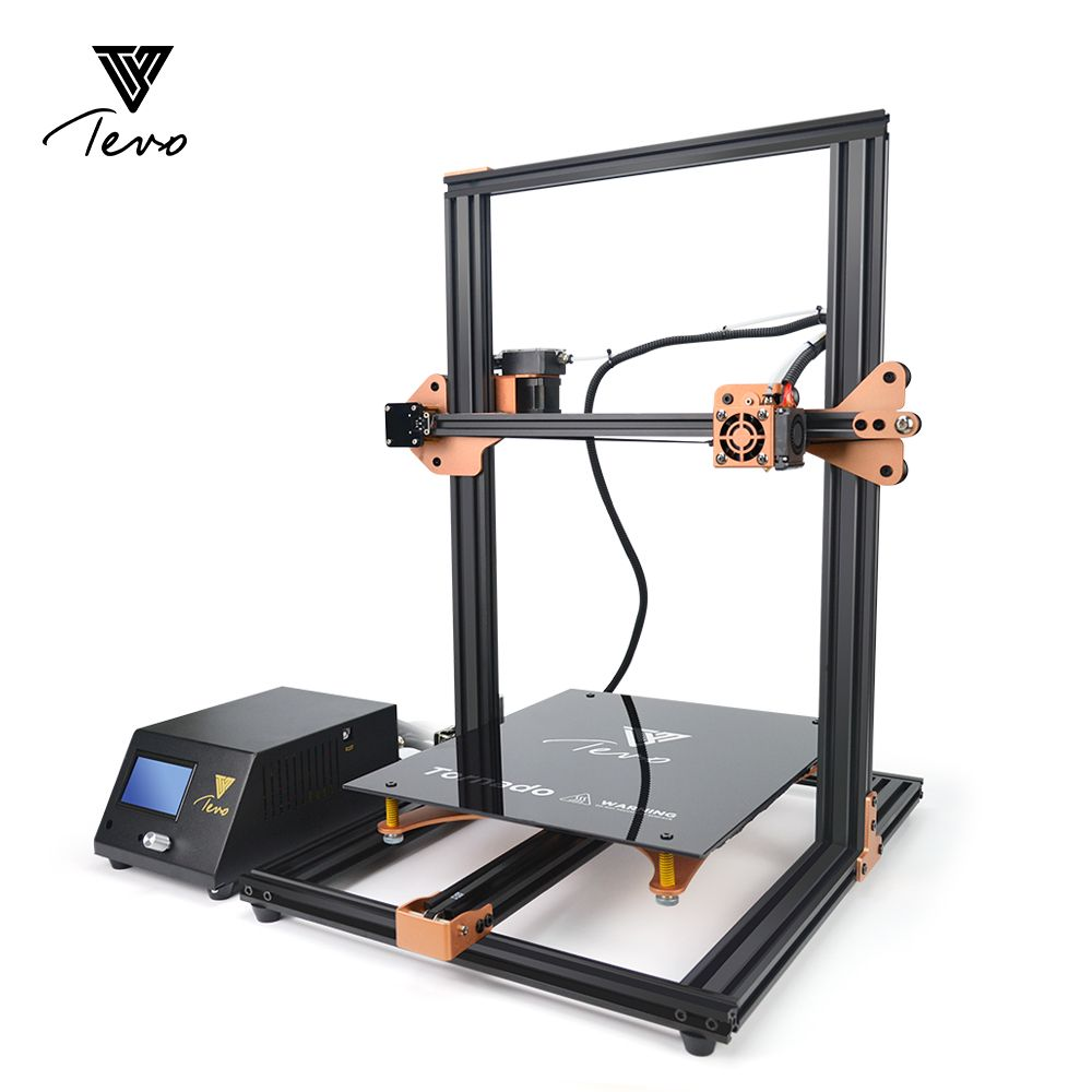 2018 TEVO Tornado Fully Assembled 3D Printer 3D Printing 3D Printer Kit 3D Machine AC heatbed Fast heating with Titan Extruder