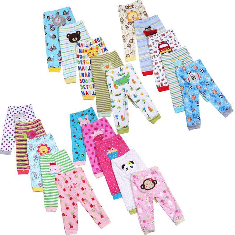 5 pcs/Lot Bébé Gril Pantalon Brodé Animaux Bébé Pantalon 100% Coton Infantile Pantalon Enfants Pantalon de Bébé Vêtements Ensembles V20