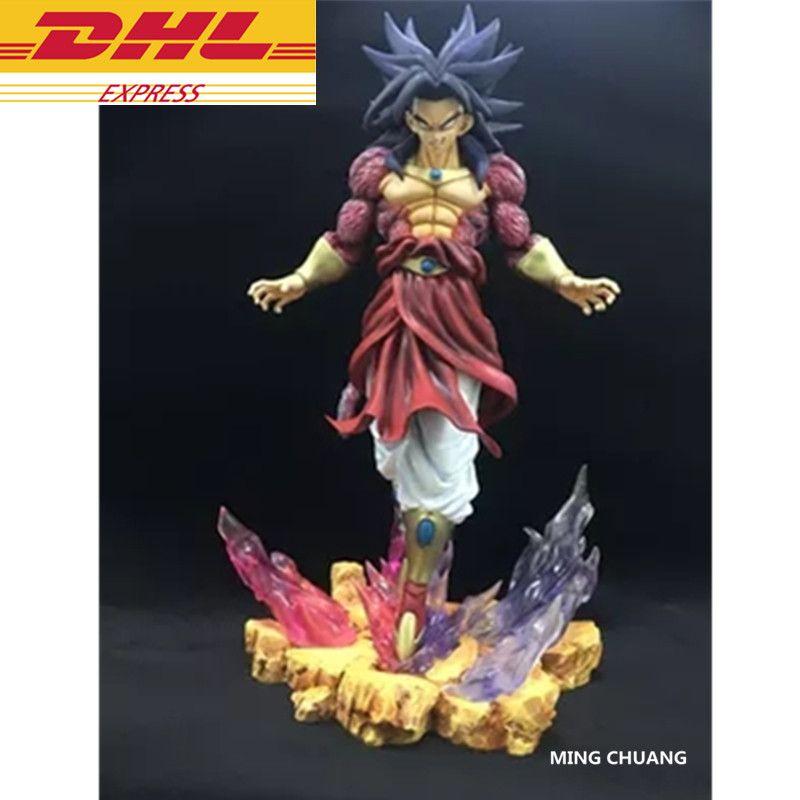 Dragon Ball Z Statue Super Saiyan Broli Bust Son Goku Enemy Full-Length Portrait GK Action Figure Collectible Model Toy D336