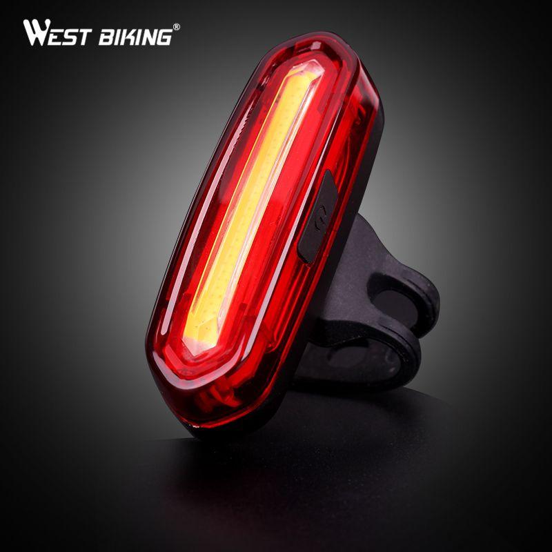 WEST BIKING Bicycle Light USB Charging Warning LED Light Bike Cycling Farol Light Bike Accessories Bike Cycling Warning Light