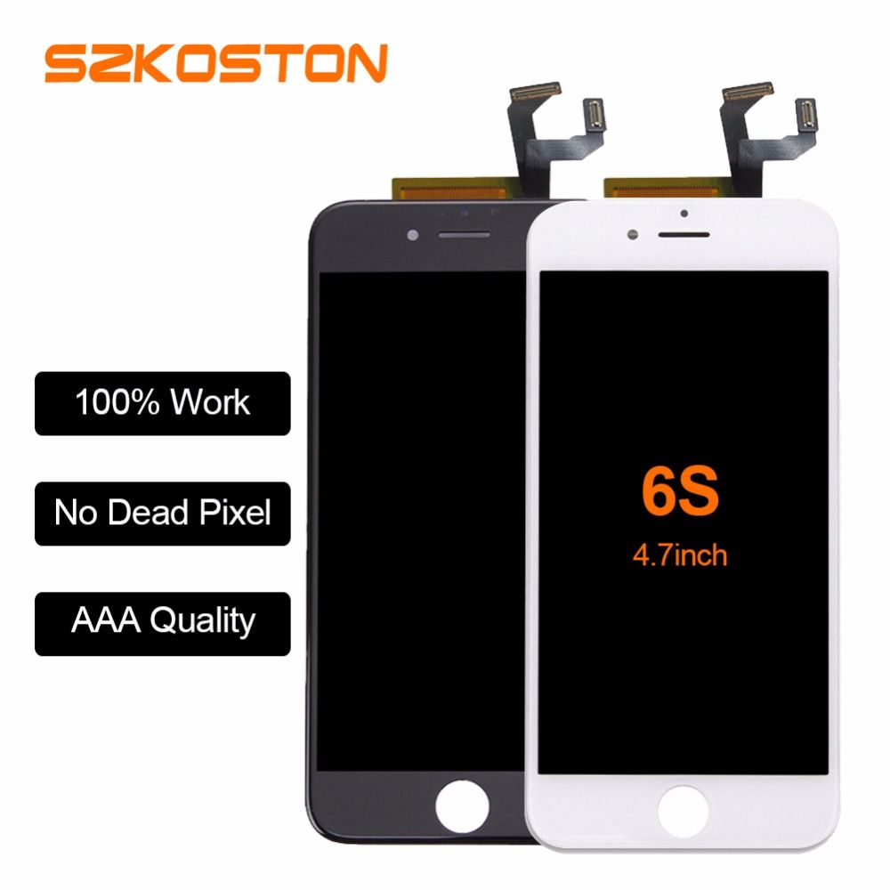 Original Quality SZKOSTON LCD No Dead <font><b>Pixel</b></font> Display for iPhone 6s 6plus 6 LCD Replacement with 3D Touch Screen Free Shipping