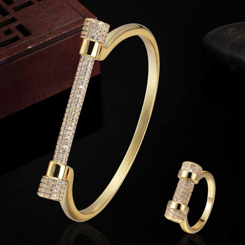 Marque de luxe cuivre Zircon Bracelet bijoux couple cadeaux hommes Dubai bijoux zircone femmes amour chaîne bracelets Pulseira