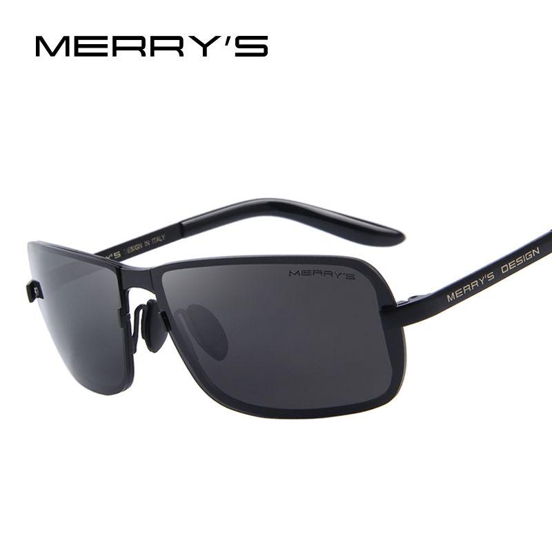 MERRY'S Design Männer Klassische CR-39 Sonnenbrille HD Polarisierte sonnenbrille Luxus Shades UV400 S'8722