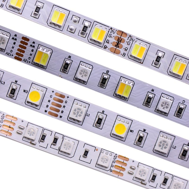 SMD 5050 RGB LED Strip Waterproof 5M 300LED DC 12V 24V CCT RGBCCT RGBW RGBWW WHITE WARM WHITE Fita LED Light Strips Flexible