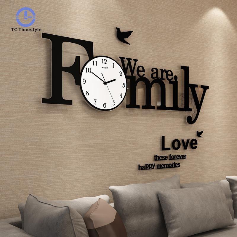 Große Wanduhr Moderne Design Große Wanduhren Für Wohnzimmer Familie Dekoration Zubehör Große Uhr Einfache Decor Einzel Gesicht