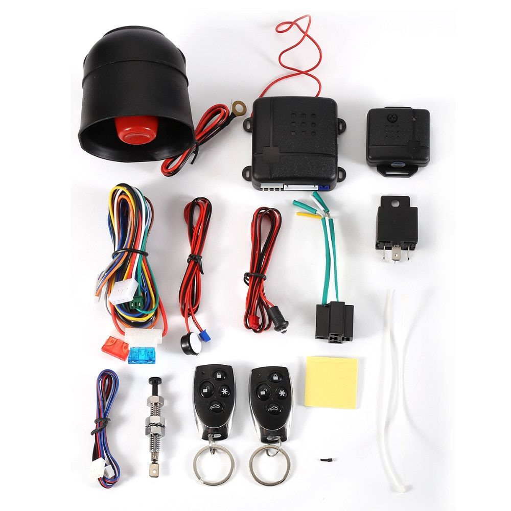 NEW Hot sale1-Way Car Alarm Vehicle System Protection Security System Keyless Entry Siren + 2 Remote Control Burglar