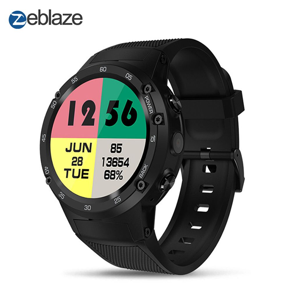 Zeblaze THOR 4 4G LTE GPS SmartWatch Phone Android 7.0 MTK6737 Quad Core 1GB+16GB 5.0MP 580mAh 4G/3G/2G Data Call Watch Men