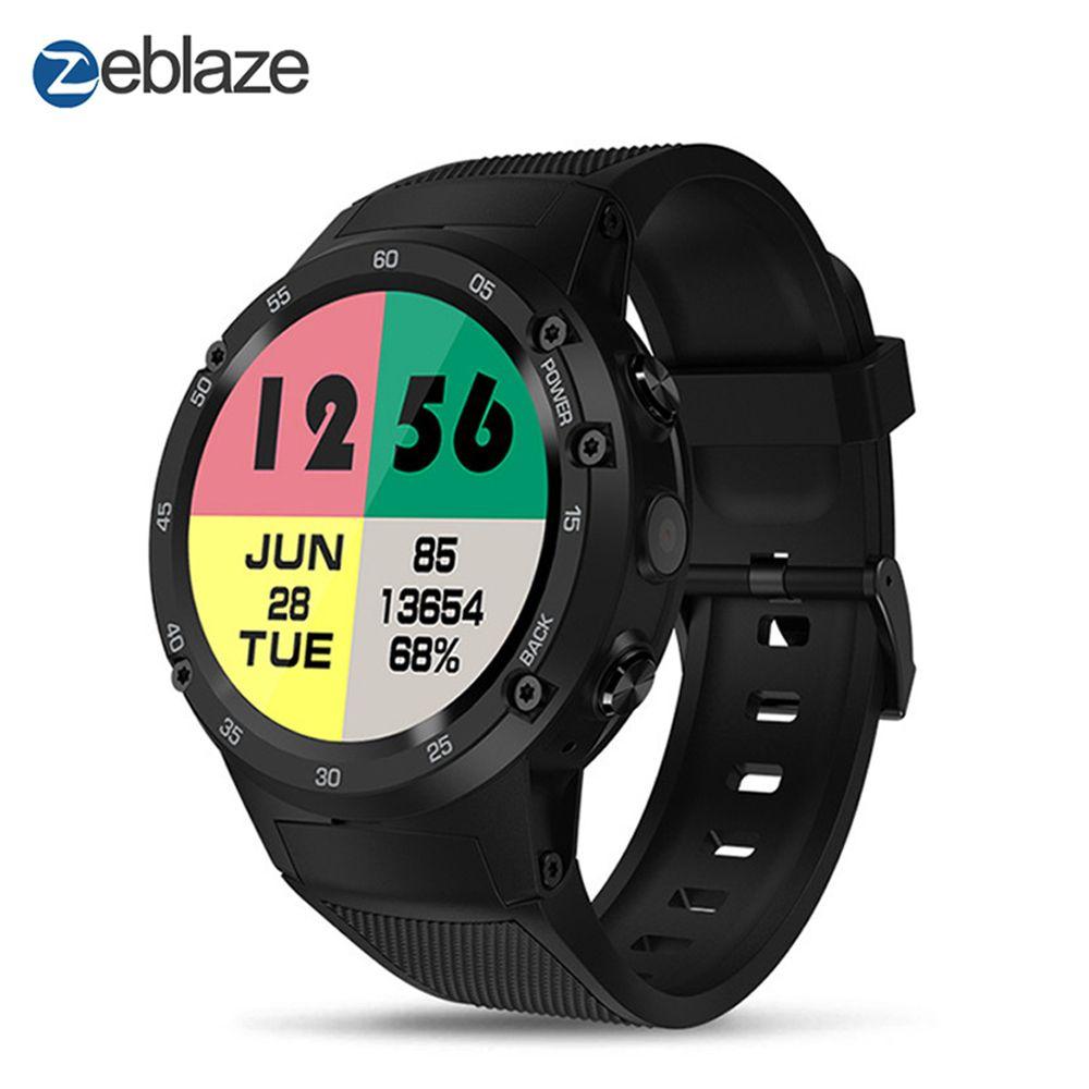 Zeblaze THOR 4 4g LTE GPS SmartWatch Telefon Android 7.0 MTK6737 Quad Core 1 gb + 16 gb 5.0MP 580 mah 4g/3g/2g Daten Anruf Uhr Männer