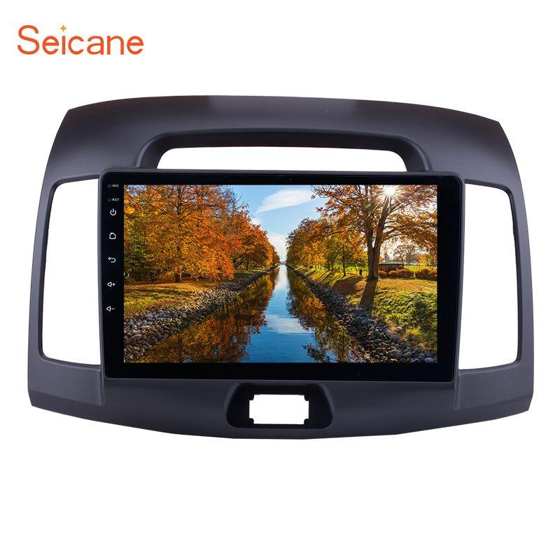 Seicane 9 inch Android 7.1/6.0 Car Radio GPS for 2007 -2011 Hyundai Elantra Multimedia Player with CPU Quad Core Mirror link