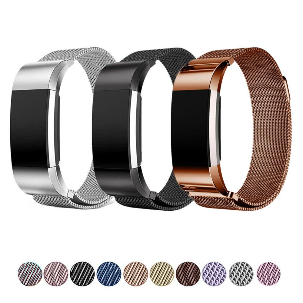 LNOP Milanese loop bracelet for Fitbit Charge 2 band strap Stainless Steel metal belt replacement wristband for Fitbit Charge2