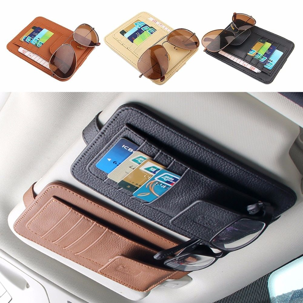 1X Versatile Car-Styling Sheepskin Genuine Leather Cards Case Credit Card Bag Car glasses For ford focus 2 volkswagen VW