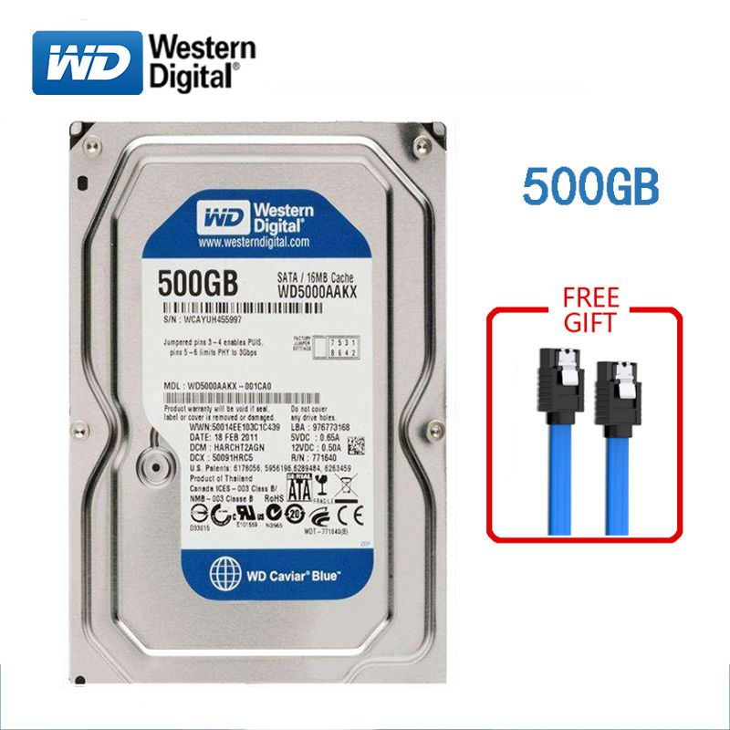 WD BLUE marque 500GB disque dur interne 3.5 7200 RPM SATA3 HDD 6 Gb/s 500G disque dur HD pour ordinateurs de bureau livraison gratuite