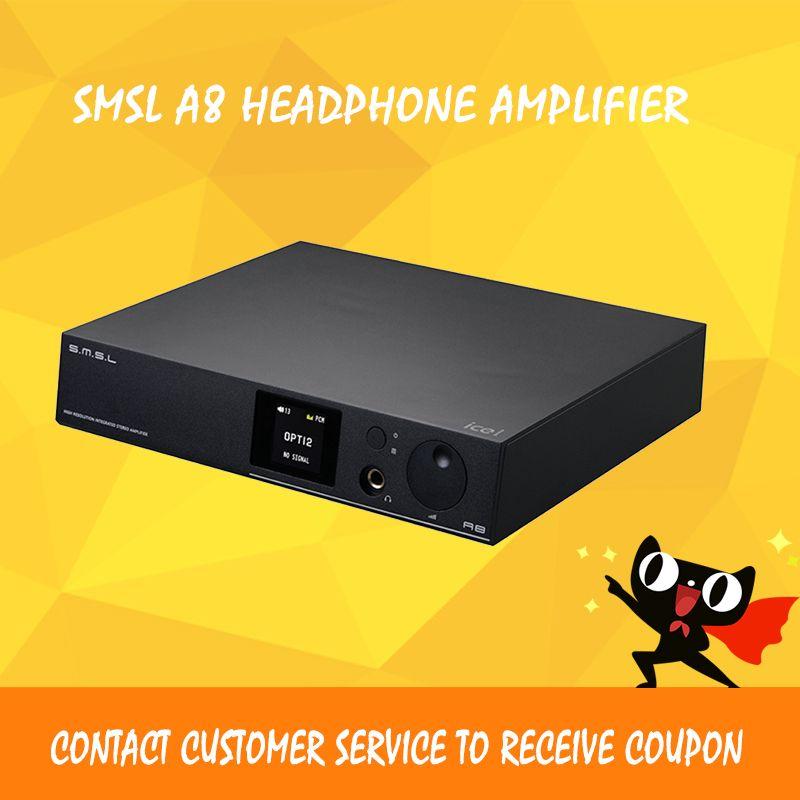 ASD SMSL A8 ICEpower 125W Hifi Audio Digital USB DAC+Headphone Amplifier+Power Amp+Decoder DSD AK4490+TPA6120 All-in-one Machine