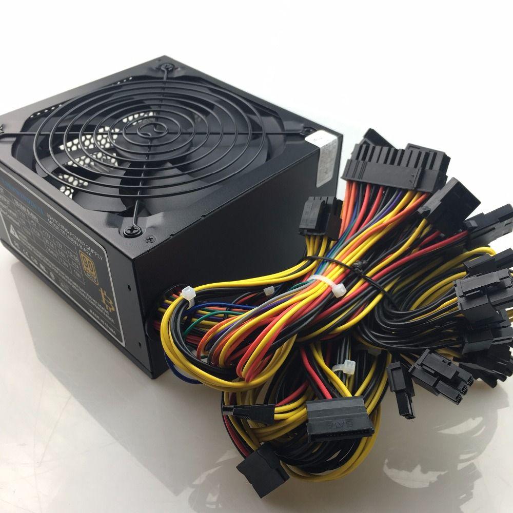 T.F.SKYWINDINTL 1600W PC Power supply ATX 12V 1.3 PSU For Bitcoin Miner RX470 RX 480 RX 570 1600W mining rig ATX Mining Machine