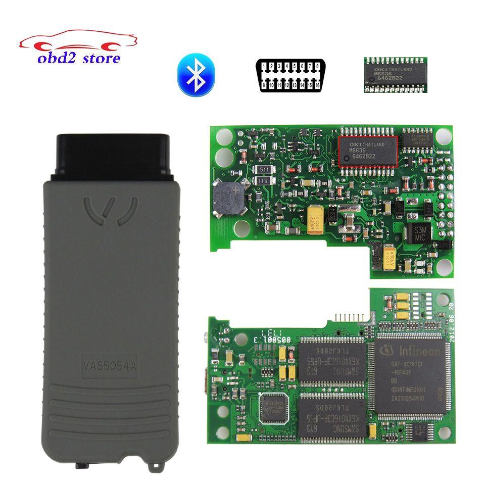 VAS5054A outil de Diagnostic de voiture à puce complète VAS 5054A Oki Vas5054 Odis V4.3.3 5054 Scanner d'outil de Diagnostic automatique Bluetooth OBD2
