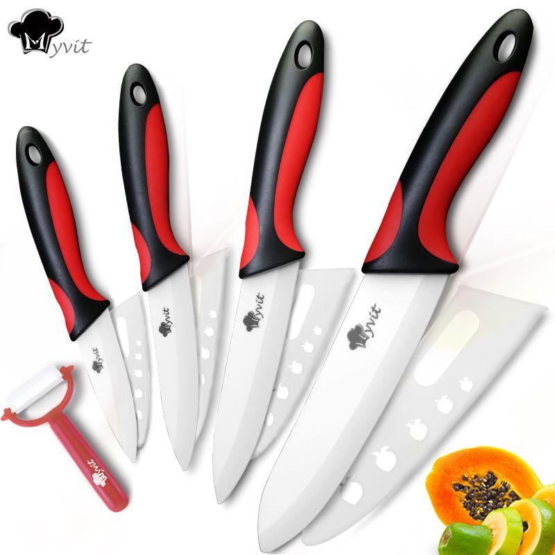 Couteau en céramique couteaux de cuisine 3 4 5 6 pouces avec éplucheur Chef cuisine fruits légumes utilitaire trancheuse couteau lame blanche Set de cuisson