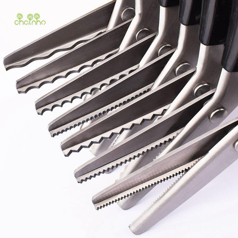 Chainho, ciseaux de tailleur avec rond & TriangleTooth, ciseaux à coudre en forme de Zigzag pour bricolage à coudre, cisailles pour tissu ou cuir