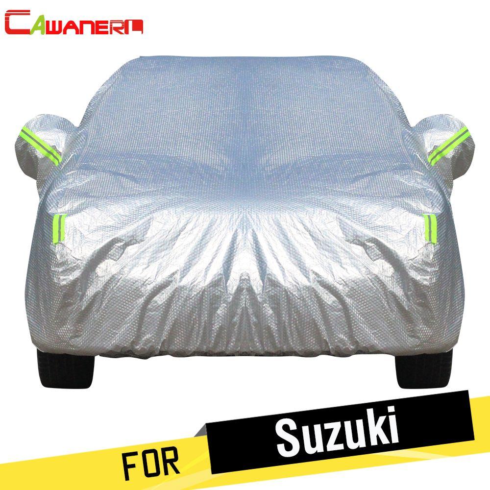 Cawanerl For Suzuki Alto S-Cross Alivio SX4 Vitara Thicken Car Cover Waterproof Sun Shade Snow Rain Protection Cotton Cover