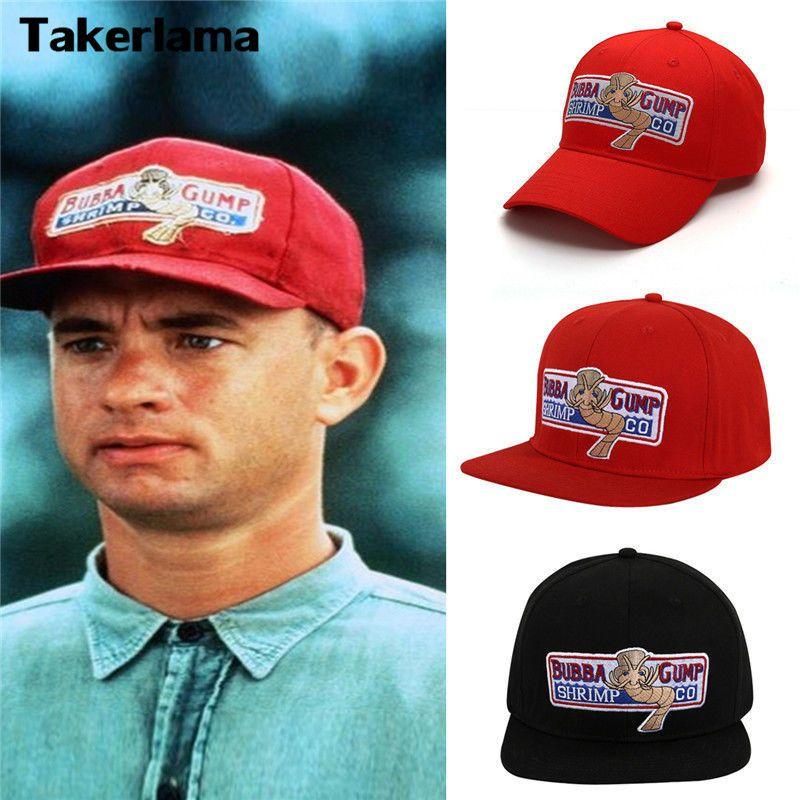 Takerlama 1994 Bubba Gump crevette CO. Casquette de Baseball Forrest Gump Costume Cosplay brodé casquette Snapback hommes et femmes casquette d'été