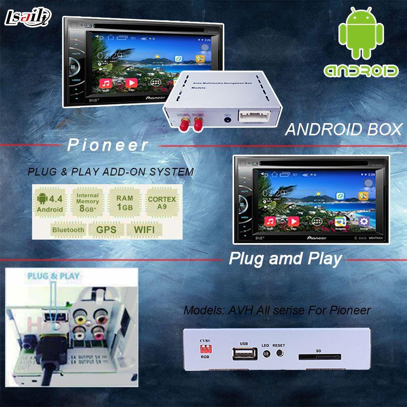 Универсальный Android 6.0 GPS навигация коробка для Pioneer блок с литой экран, Bluetooth, Wi-Fi