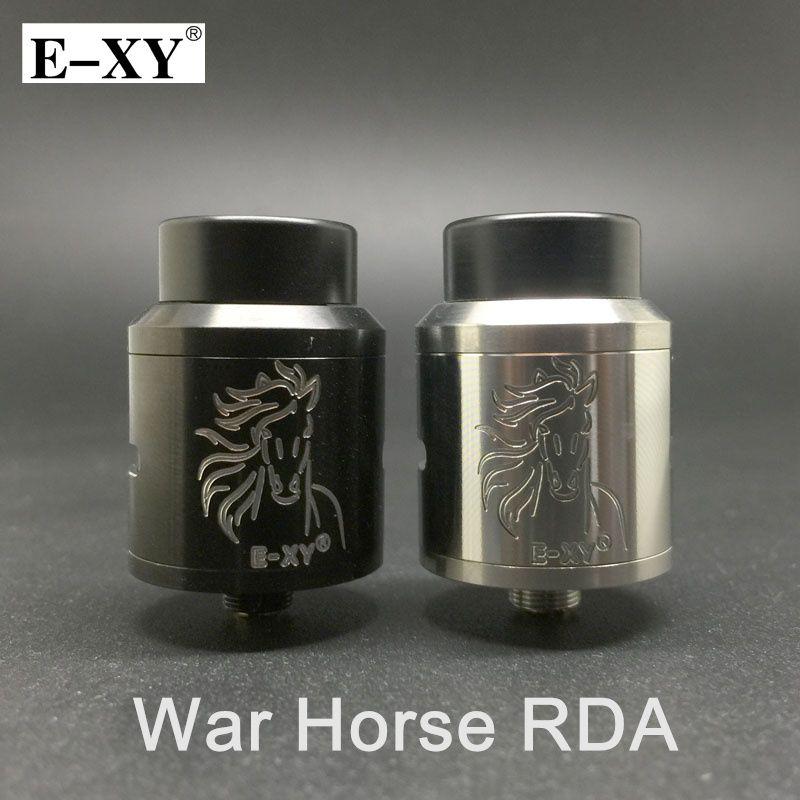 E-XY Krieg Pferd RDA Zerstäuber Einstellbaren Luftstrom 24mm Tank Zerstäuber Fit 510 e zigarette Unterhaltungselektronik Vape Mod Verdampfer