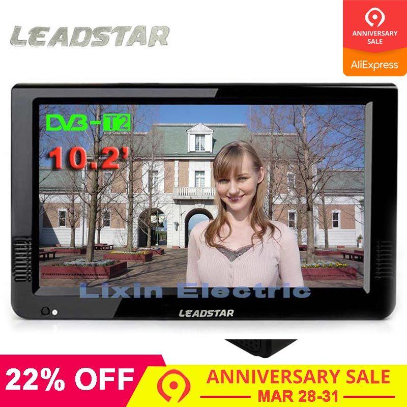 LEADSTAR HD tv portative 10 Pouces Numérique Et Analogique led Téléviseurs Soutien TF Carte USB audio pour voiture Télévision DVB-T DVB-T2 AC3