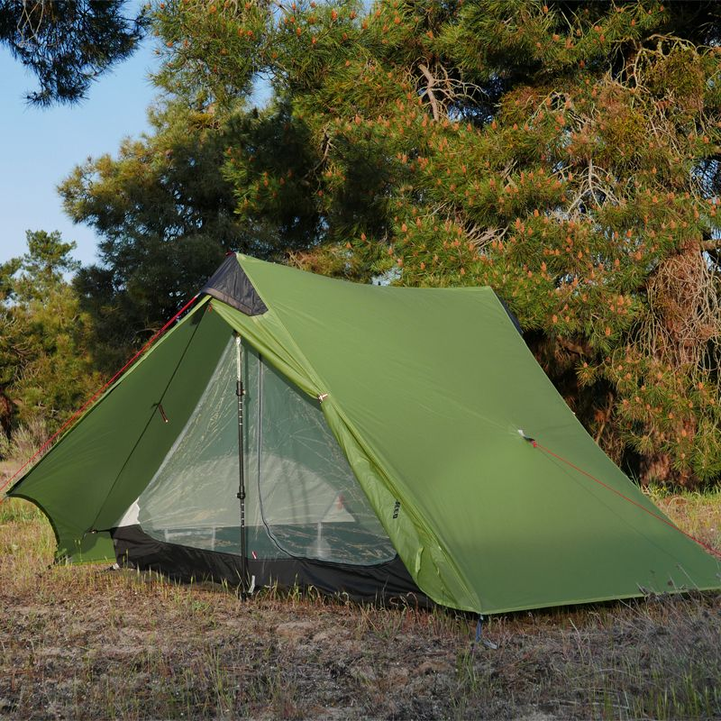 2018 LanShan 2 FLAME'S CREED 2 Person Oudoor Ultralight Camping Tent 3 Season Professional 15D Silnylon Rodless Tent
