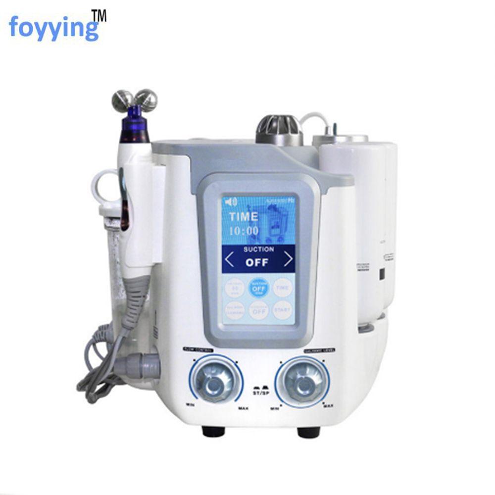 Foyying Heißer 3 In 1 Hydro Wasser Sauerstoff Jet Peeling Gesicht Tief Reinigung Maschine H2 O2 Aqua Kleine Blase Haut verjüngung Schönheit De