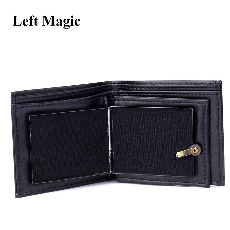Portefeuille de flamme tours de magie grand portefeuille en cuir de flamme tour de magicien scène Street Show accessoires de magie portefeuille de à deux volets drôle en plein air
