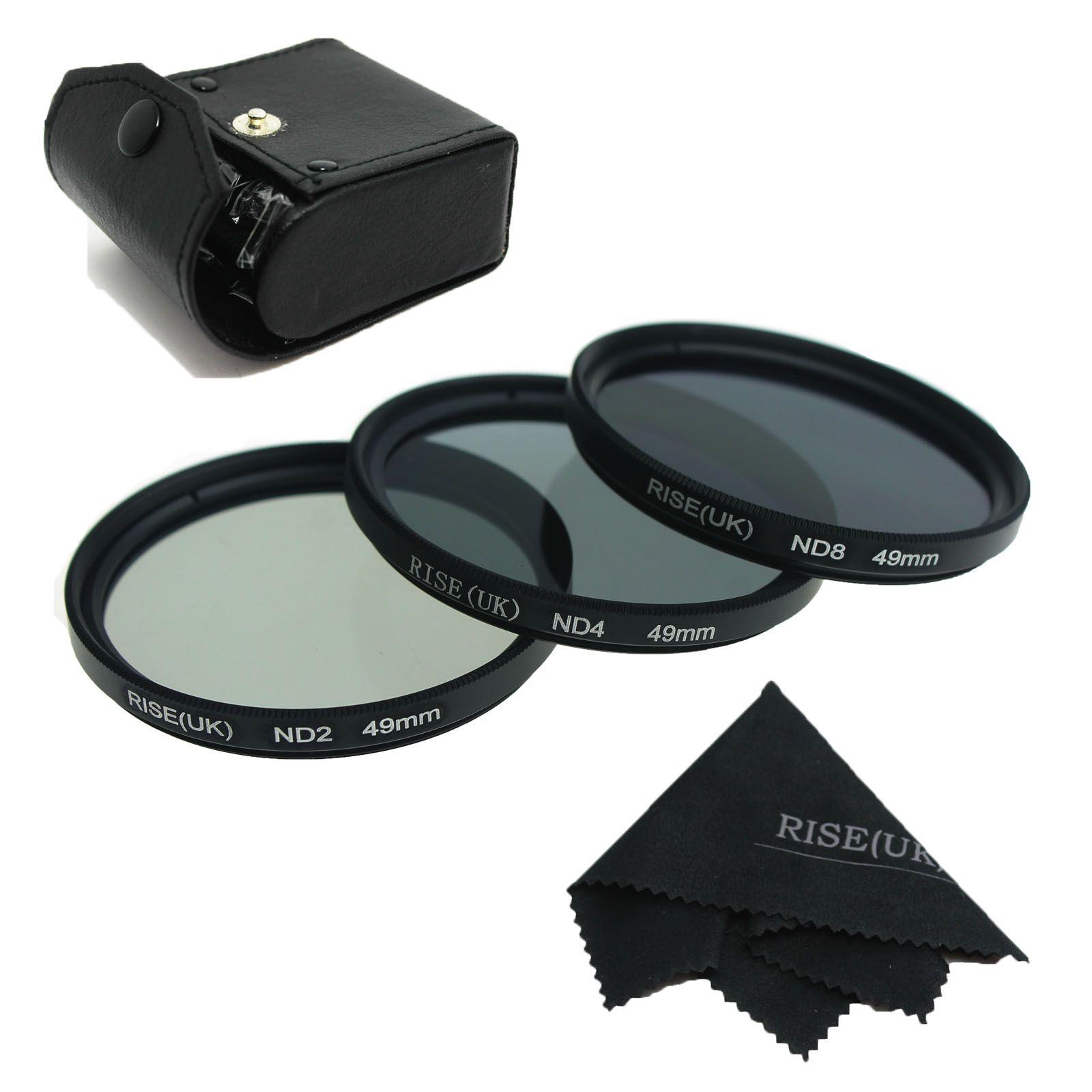 RISE (ROYAUME-UNI) 49mm 52mm 55mm 58mm 62mm 67mm 72mm 77mm Densité Neutre Filtre Objectif ensemble Kit ND2 ND4 ND8 ND 2 4 8
