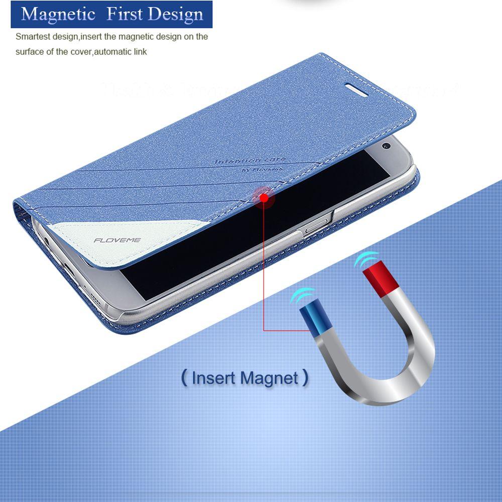FLOVEME S5 S8 Plus Cas Original Flip En Cuir Téléphone Cas Pour Samsung Galaxy S5 S6 Bord Plus S7 Bord S8 Plus Pochette de Stand de Couverture
