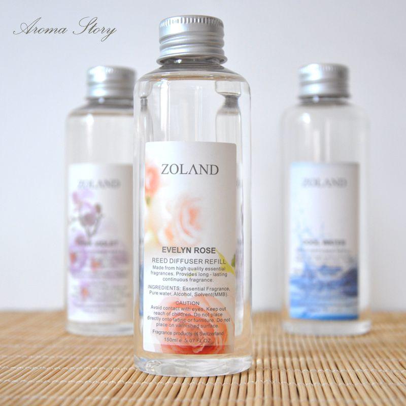 Aromeasy 150 ml Original sans alcool parfum huile essentielle aromathérapie Reed diffuseur repenisseur lavande, Rose, océan, bambou