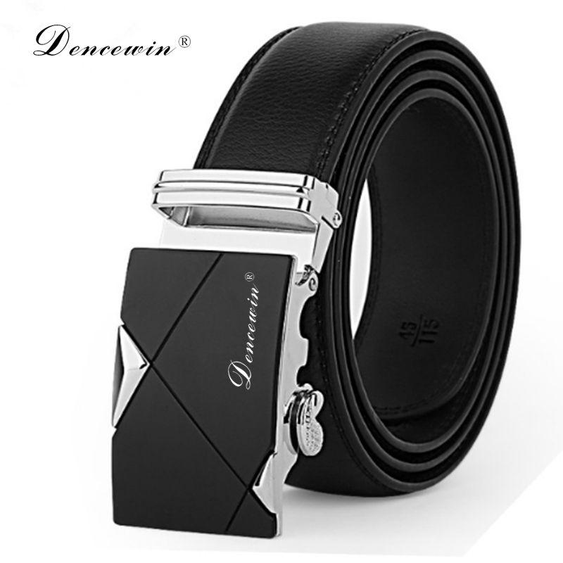 Livraison gratuite hommes fashion100 % en cuir véritable ceintures pour hommes de haute qualité en métal automatique boucle sangle célèbre marque ceinture