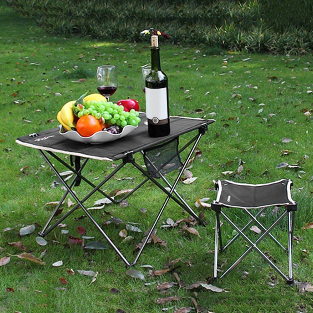 Außen Einstellbare Klapptisch Portable Picknick Camping Fischen Wandern Garten Reise Utility Stühle Picknicktisch Schreibtisch mit Tasche